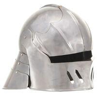 vidaXL Middelaldersk ridderhjelm antikk replika LARP sølv stål