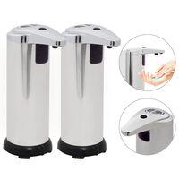 vidaXL Automatiske såpedispensere 2 stk infrarød sensor 600 ml bjelle
