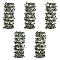 vidaXL Espaliergjerder selje med kunstige blader 5 stk 180x30 cm