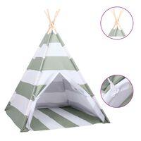 vidaXL Tipi-telt for barn med pose ferskenhud striper 120x120x150 cm