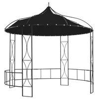 vidaXL Paviljong 300x290 cm antrasitt rund