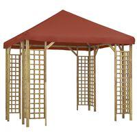 vidaXL Paviljong 3x3 m terrakotta