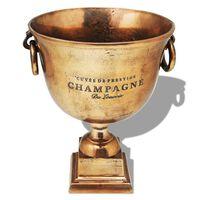 vidaXL Pokalformet Champagnekjøler kobberbrun