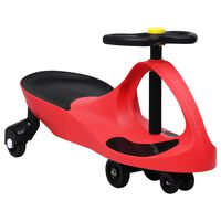 vidaXL Svingbil for barn med horn rød