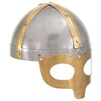 vidaXL Vikinghjelm antikk replika LARP sølv stål
