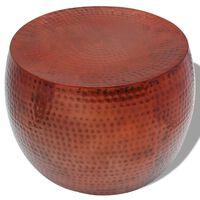 vidaXL Rundt salongbord med kobberfinish brun