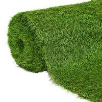 vidaXL Kunstgress 1x5 m/40 mm grønn