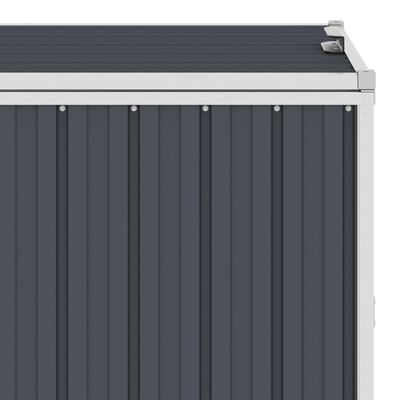 vidaXL Søppeldunkskur antrasitt 72x81x121 cm stål