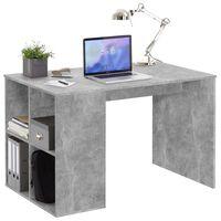 FMD Skrivebord med sidehyller 117x73x75 cm betonggrå