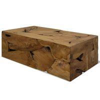 vidaXL Salongbord 90x50x30 cm ekte teak brun