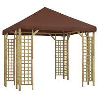vidaXL Paviljong 3x3 m brun
