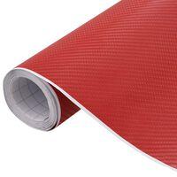 vidaXL Bilfolie matt 4D rød 500x152 cm