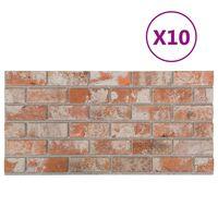 vidaXL 3D veggpaneler med rødt mursteindesign 10 stk EPS