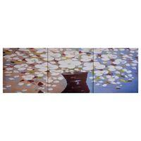 vidaXL Lerretsbilde blomster i vase flerfarget 120x40 cm