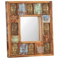 vidaXL Speil med Buddha-motiver 50x50 cm gjenvunnet tre