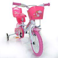 "Dino Bikes Barnesykkel Unicorn rosa 12"""