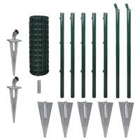 vidaXL Euro gjerde stål 10x0,8 m grønn