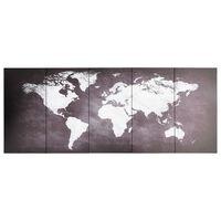 vidaXL Lerretsbilde verdenskart grå 150x60 cm