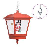vidaXL Hengende julelampe med LED-lys og julenisse rød 27x27x45 cm