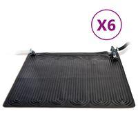 Intex Solvarmematte 6 stk PVC 1,2x1,2 m svart
