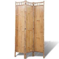 vidaXL Romdeler 3-panel bambus