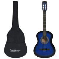 """vidaXL Klassisk gitar for nybegynnere med veske blå 3/4 36"""""""