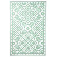 Esschert Design Uteppe 182x122 cm fliser grønn og hvit