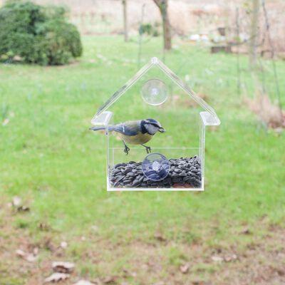 Esschert Design Fuglemater akryl 15x10x15,3 cm FB370