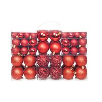 vidaXL Julekulesett 6 cm 100 stk rød