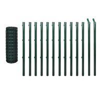 vidaXL Euro gjerde stål 25x0,8 m grønn