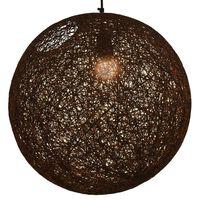 vidaXL Hengelampe brun sfærisk 45 cm E27