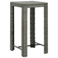 vidaXL Utendørs barbord grå 60,5x60,5x110,5 cm polyrotting