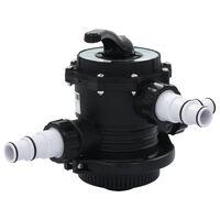 "vidaXL Multiportventil for sandfilter ABS 1,5"" 6-veis"