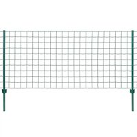 vidaXL Euro gjerde stål 20x1 m grønn