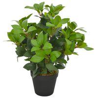 vidaXL Kunstig laurbærtre med potte grønn 40 cm