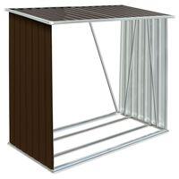 vidaXL Vedskjul galvanisert stål 163x83x154 cm brun