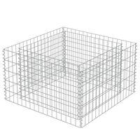 vidaXL Gabion høybed galvanisert stål 90x90x50 cm