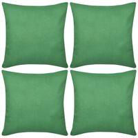 4 Grønne putetrekk, bomull 40 x 40 cm