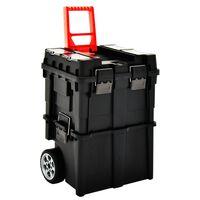 vidaXL Verktøykasse med hjul og håndtak 46x36x41 cm