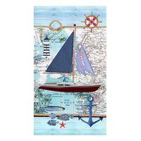 Good Morning Strandhåndkle AARON 100x180cm blå