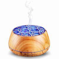 Aroma Diffuser Luftfukter med Bluetooth-høyttaler og lampe