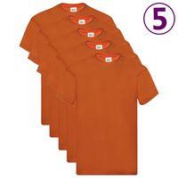 Fruit of the Loom Originale T-skjorter 5 stk oransje XL bomull