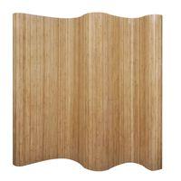 vidaXL Romdeler bambus naturlig 250x165 cm