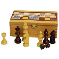 Abbey Game Sjakkbrikker 87 mm svart/hvit 49CL