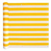 vidaXL Balkongskjerm HDPE 75x600 cm gul og hvit