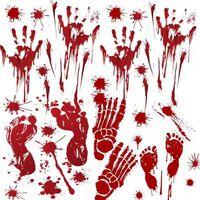Klistremerker Halloween 4 deler Rød