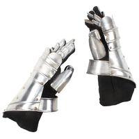 vidaXL Middelaldersk rustningshansker antikk replikk LARP sølv stål