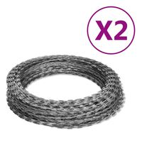 NATO Piggtråd Helical Wire Rolls 2 stk galvanisert stål 100 m