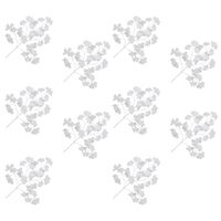 vidaXL Kunstige tempeltreblader 10 stk hvit 65 cm