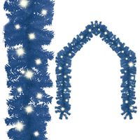vidaXL Julekrans med LED-lys 10 m blå